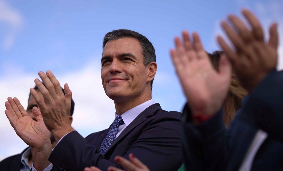 Pedro Sánchez, durante la campaña de las últimas generales, en Córdoba.