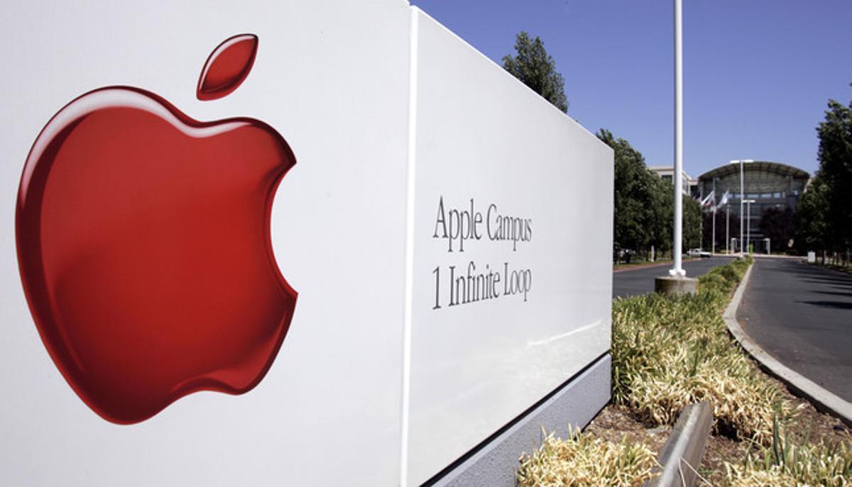 Exterior de la sede de Apple en Cupertino, California.