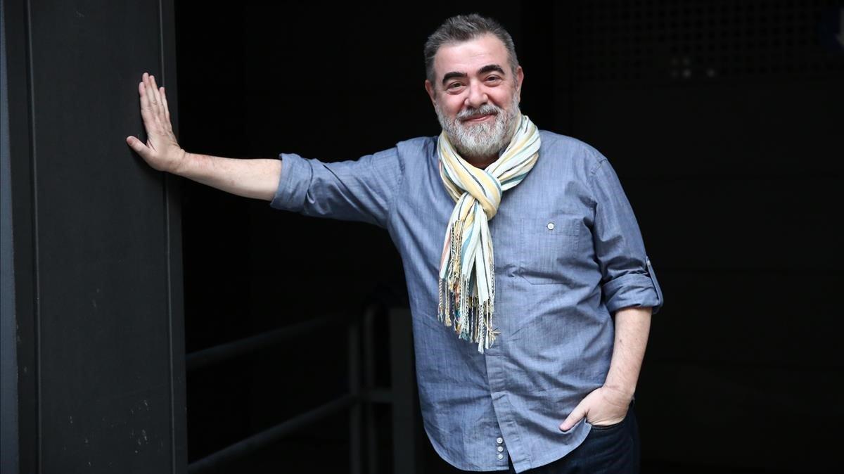 El periodista y escritor Pau Arenós, esta semana en Barcelona.