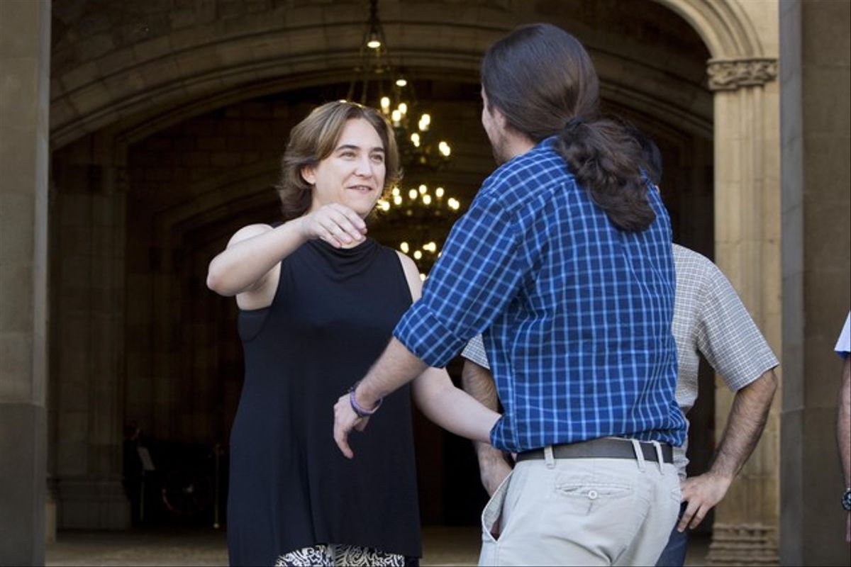 Encuentro entre Pablo Iglesias y Ada Colau, el pasado 26 de junio en Barcelona.