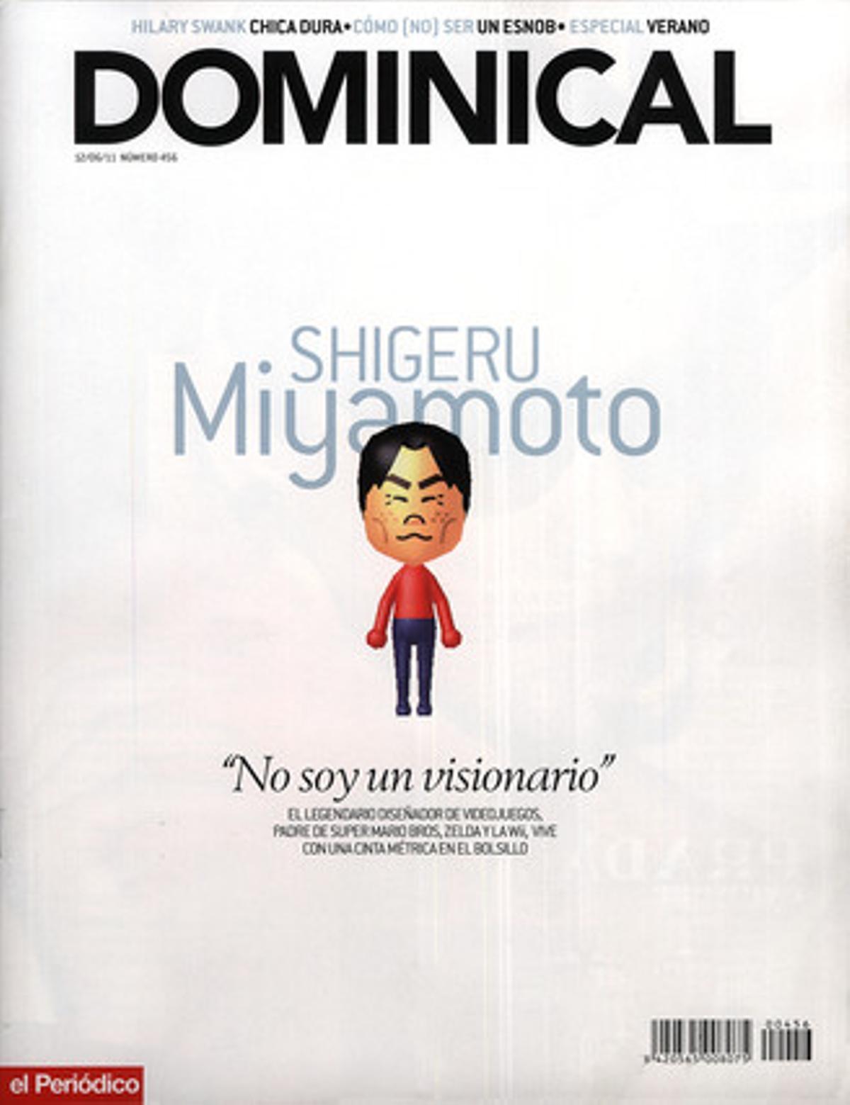 El Mii de Miyamoto en la portada de EL DOMINICAL