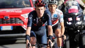 Geoghegan Hart, a la izquierda, y Jai Hindley, durante la etapa del Stelvio.