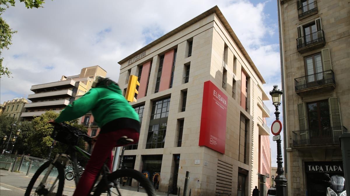 La actual sede de Elisava en la Rambla, que abandonará en 2023, y que es propiedad de la Universitat Pompeu Fabra.