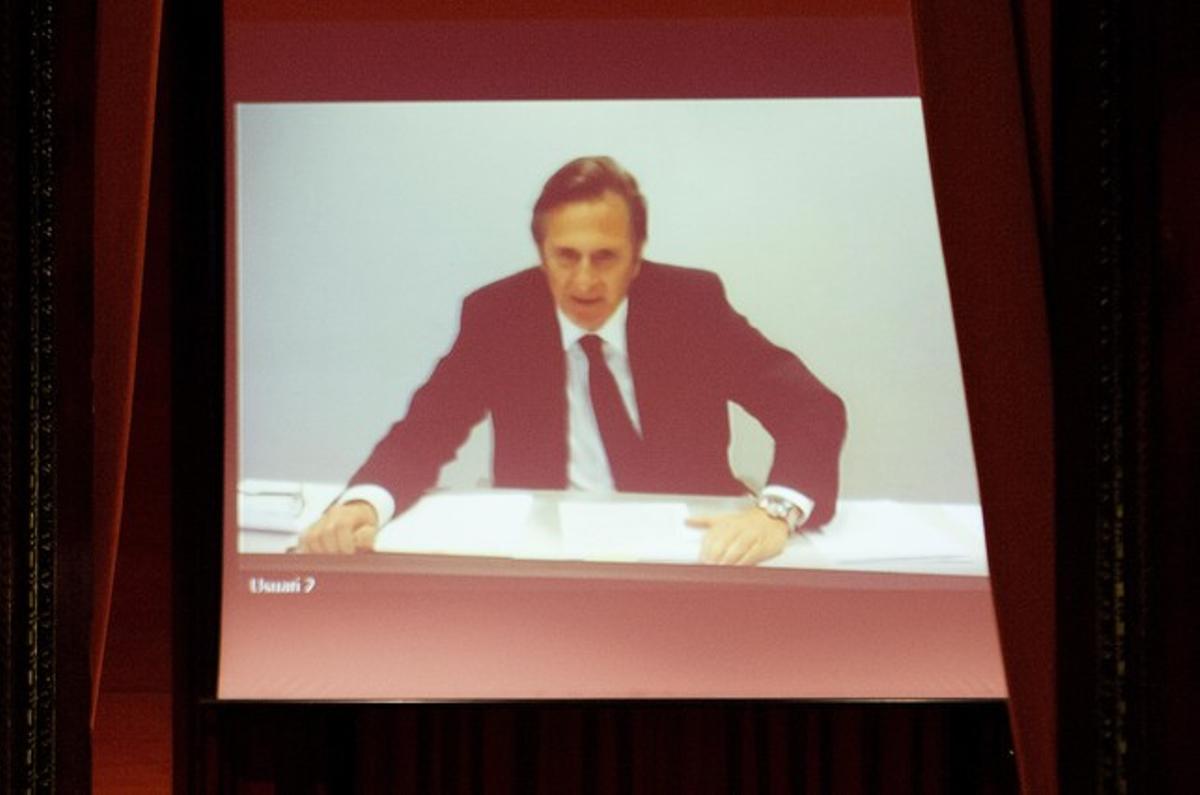Josep Pujol Ferrusola, el pasado marzo, durante su declaración en el Parlament a través de videoconferencia.