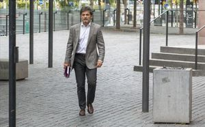 Oriol Pujol, en la Ciutat de la Justícia.