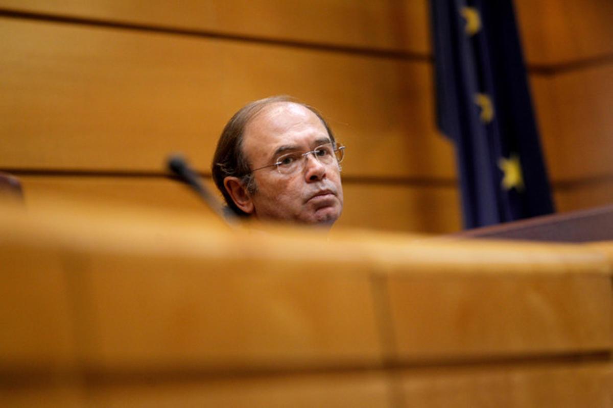 El presidente del Senado, Pío García-Escudero, durante una sesión de control al Gobierno, el pasado febrero.