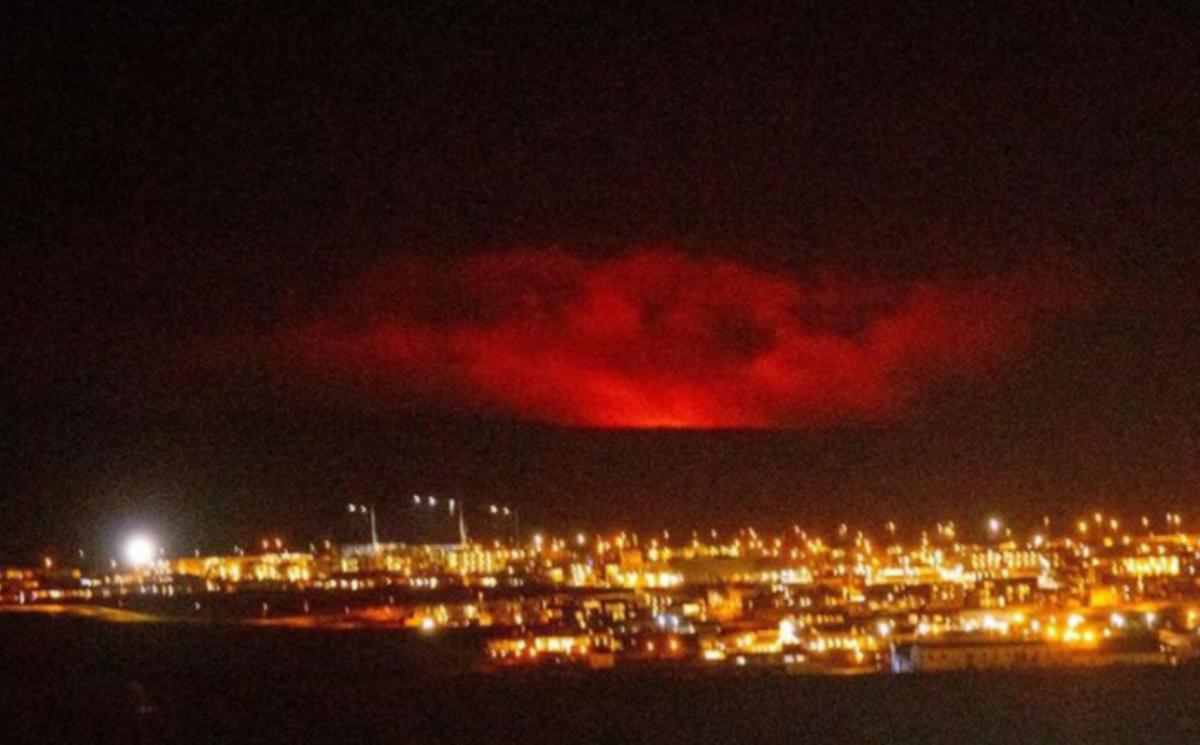 Erupción del volcán Fagradalsfjall, cerca de la capital de Islandia, Reykiavik.