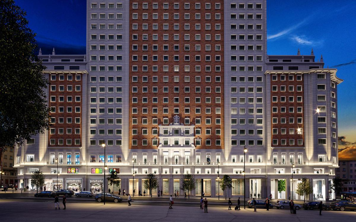 El edificio de la plaza de España de Madrid que acogerá los 9.000 metros cuadrados de Zara, Zara Home y Stradivarius.