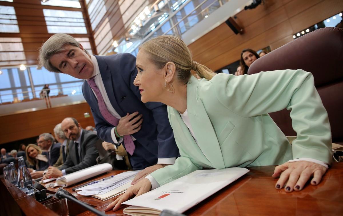 Cristina Cifuentes, en la Asamblea.