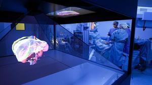 El modelo anatómico holográfico 3D del Hospital de Sant Pau de Barcelona.