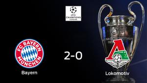 El Bayern de Múnich vence 2-0 en su estadio ante el Lokomotiv Moscú