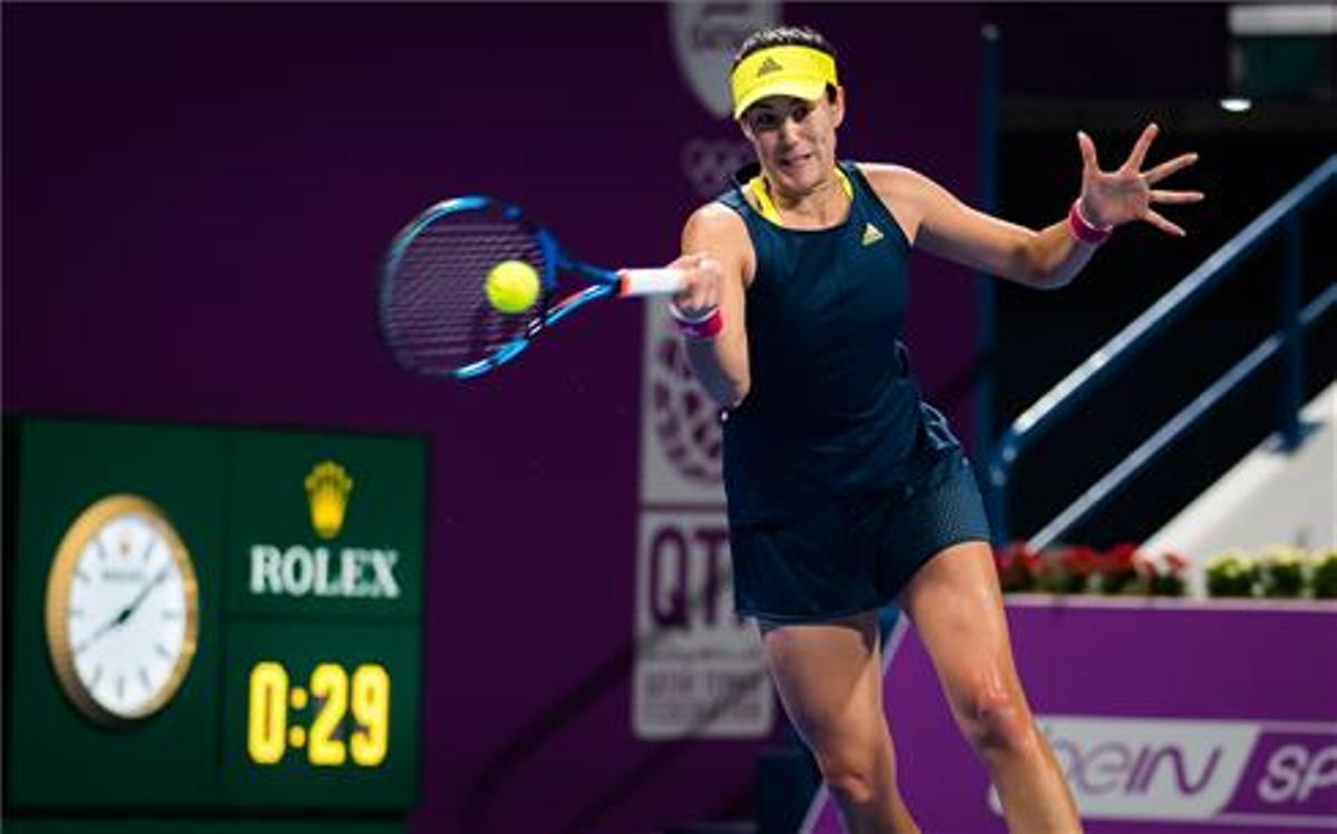 Muguruza cae en la final de Doha ante Kvitova