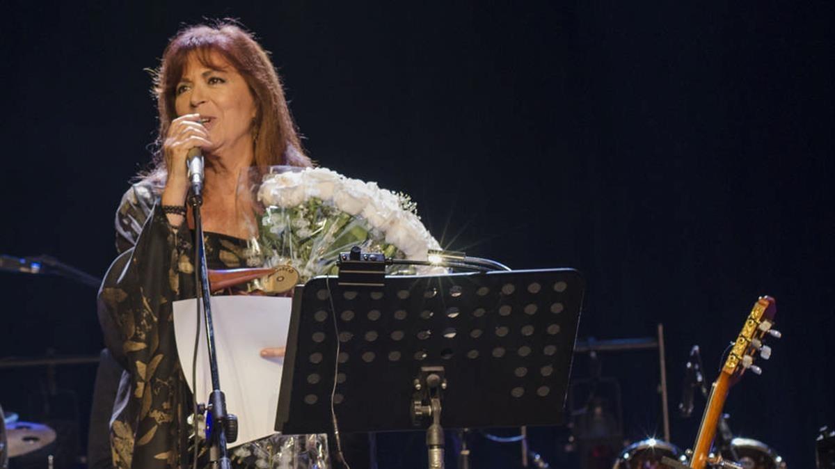Maria del Mar Bonet, en unconcierto en La Habana, en el 2019.