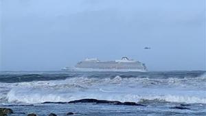 El 'Viking Sky', a la deriva.