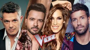 Los coaches de la nueva edición de 'La voz' en Antena 3
