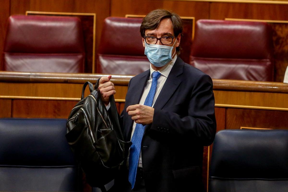 El ministro de Sanidad, Salvador Illa, el pasado 29 de octubre en el Congreso.