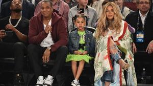 La familia Carter-Knowles al completo, en el partido de los 'All Stars'.