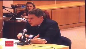 Ignacio González declara en el juicio del caso de los espías de Madrid.