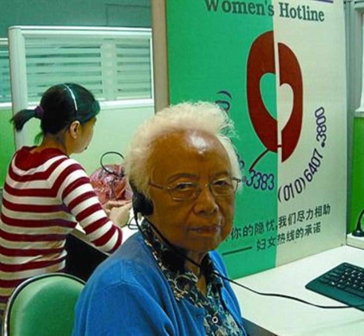 Wang Xingjuan, fundadora de la organización Maple Centre, en Pekín.
