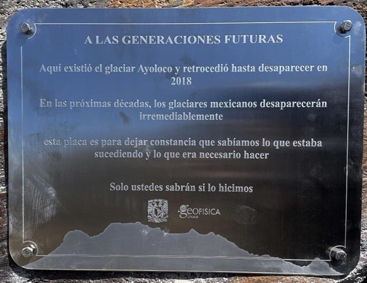 Declaran oficialmente 'extinto' el glaciar Ayoloco de México