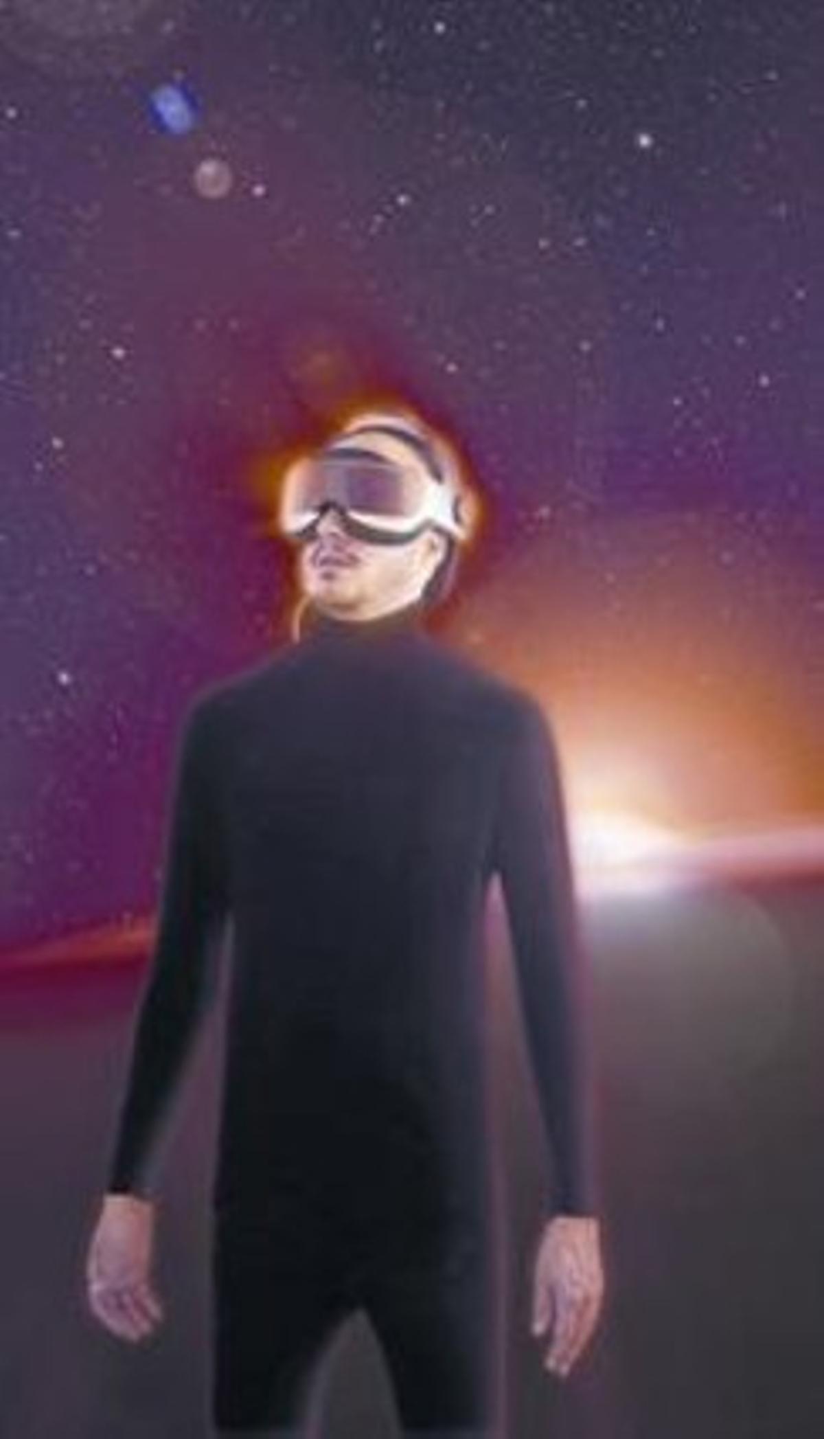 Guille Milkyway, solo ante el cosmos, en una imagen promocional.