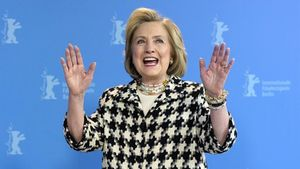 Hillary Clinton, en Berlín, este martes.