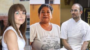 Dos afectados por un erte y una trabajadora del hogar denuncian que están pendientes de cobrar sus prestaciones.