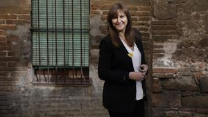 Laura Borràs, candidata de JxCat a la presidencia de la Generalitat