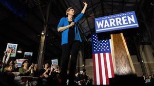 Elizabeth Warren durante un acto electoral.