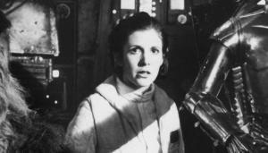 La princesa Leia (Carrie Fisher), en una escena de 'El Imperio Contrataca'