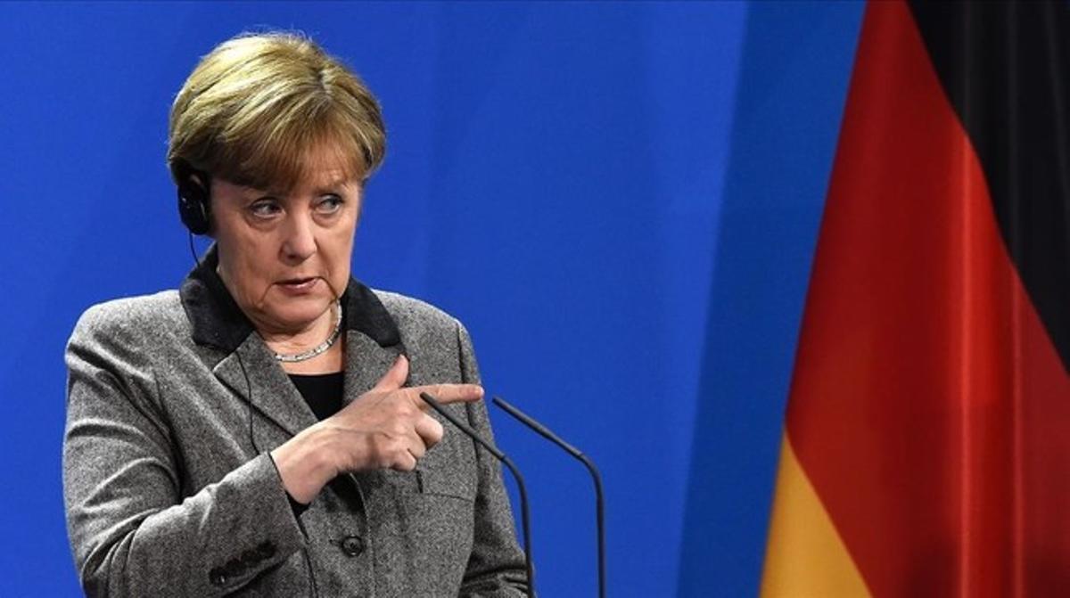 Merkel, en una rueda de prensa.