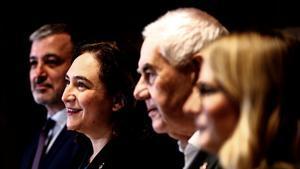 Collboni, Colau, Maragall y Artadi en enero del 2020.