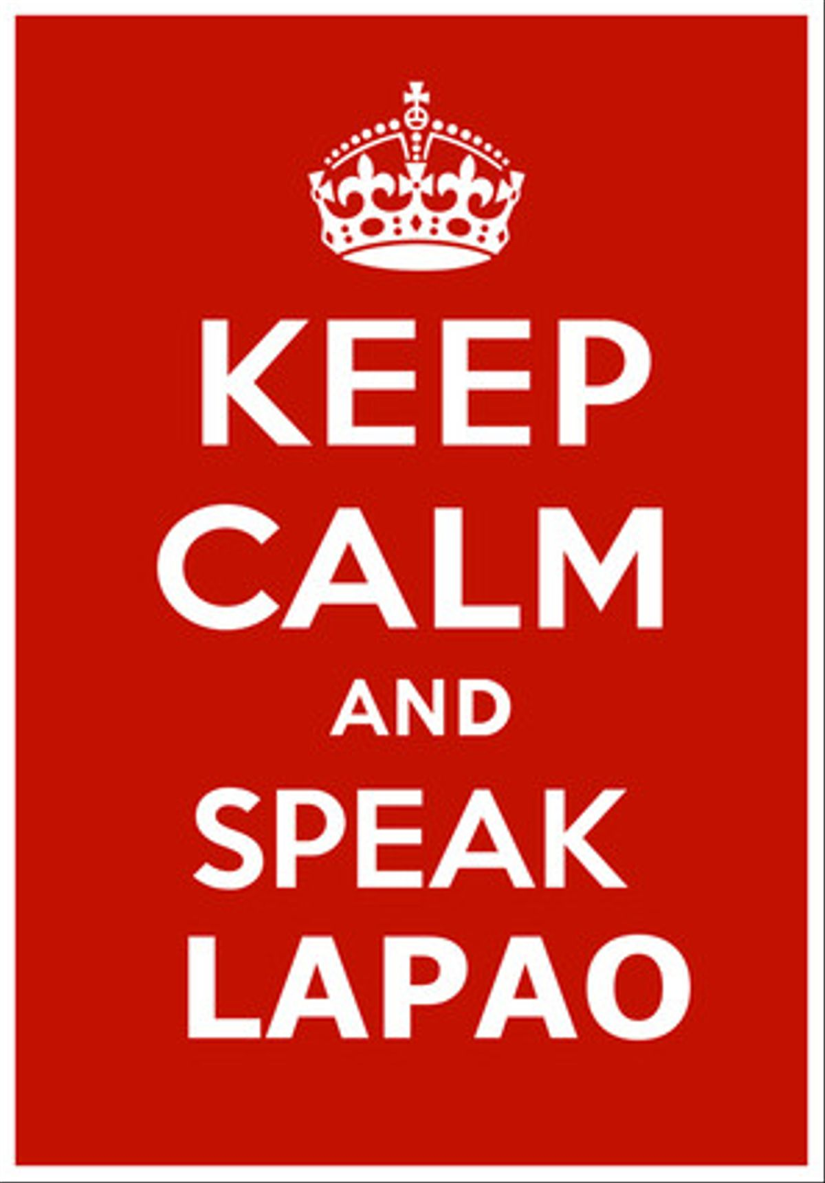 Adaptación de la campaña 'Keep calm and speak catalan que se popularizó en la red hace unos meses