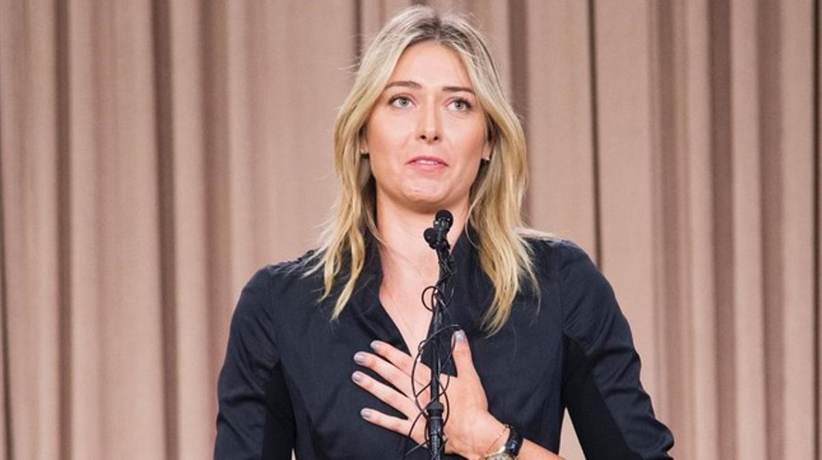 Maria Sharapova, durante la rueda de prensa en Los Ángeles