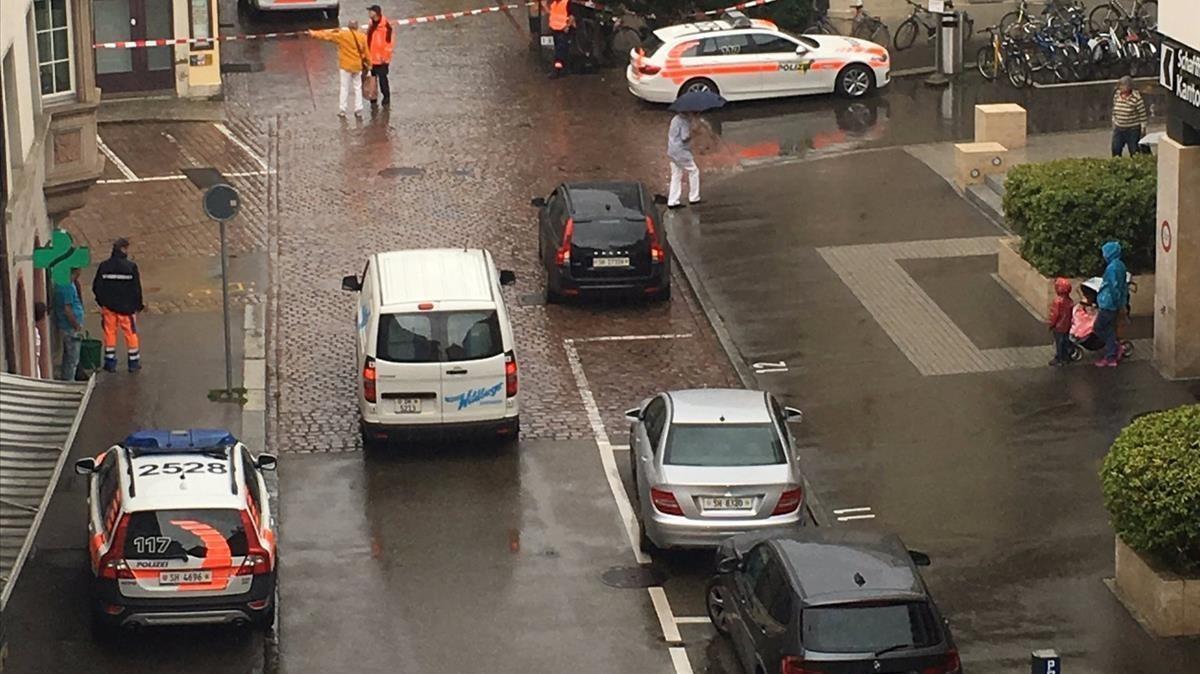 La calle de Schaffhausen donde han ocurrido los hechos.