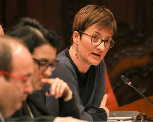 Marta Ribas, en el Parlament.