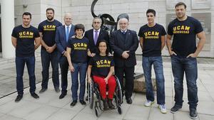 Los seis nuevos deportistas que se han unido al programa de desarrollo deportivo y formación academica de la UCAM.