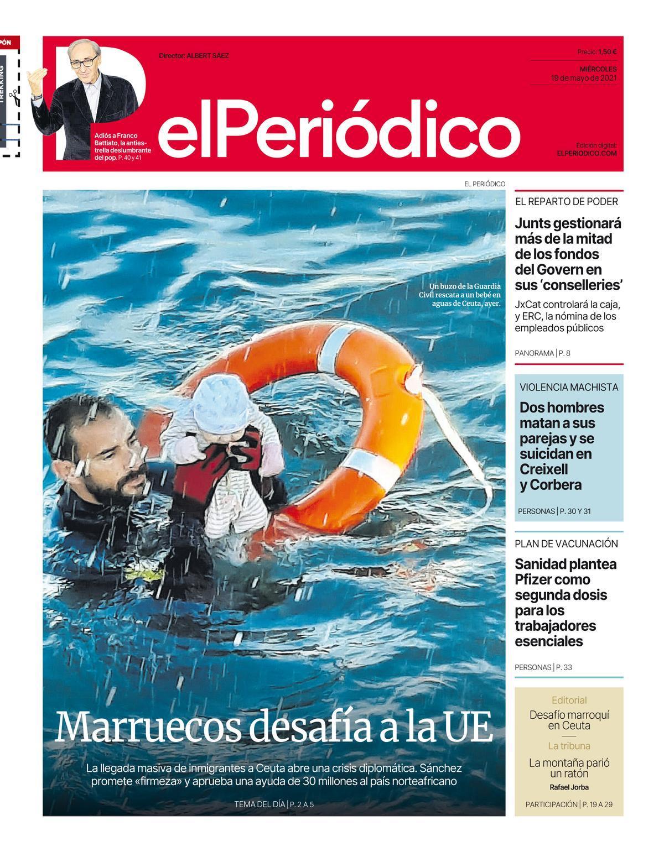 La portada d'EL PERIÓDICO del 19 de maig del 2021