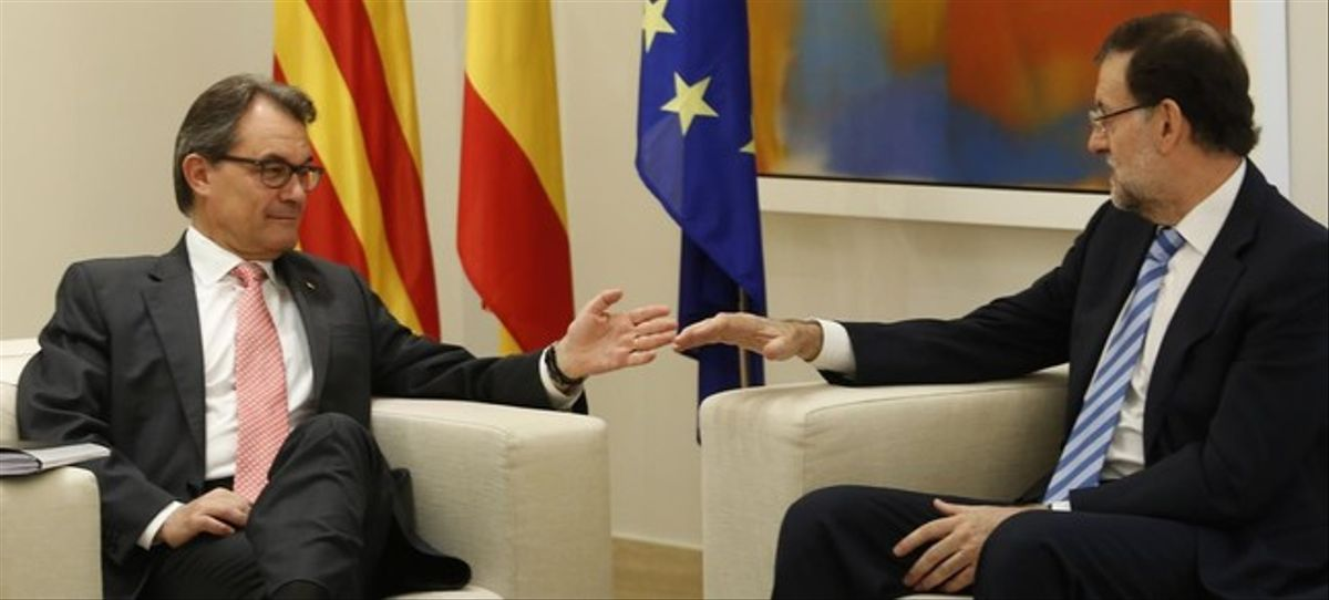 Artur Mas y Mariano Rajoy, en la reunión que mantuvieron en la Moncloa el 27 de julio del 2014.