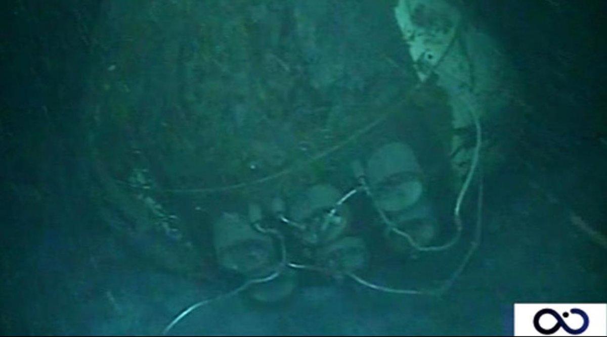 Restos del submarino ARA San Juan.