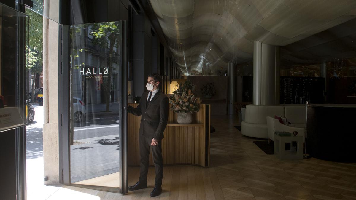 Reapertura de un hotel en Barcelona en mayo pasado.
