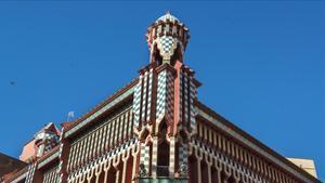 Imagen del exterior de la Casa Vicens.