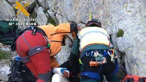 Rescate de los dos montañeros de Lleida, el pasado 19 de junio en el Pirineo de Huesca.