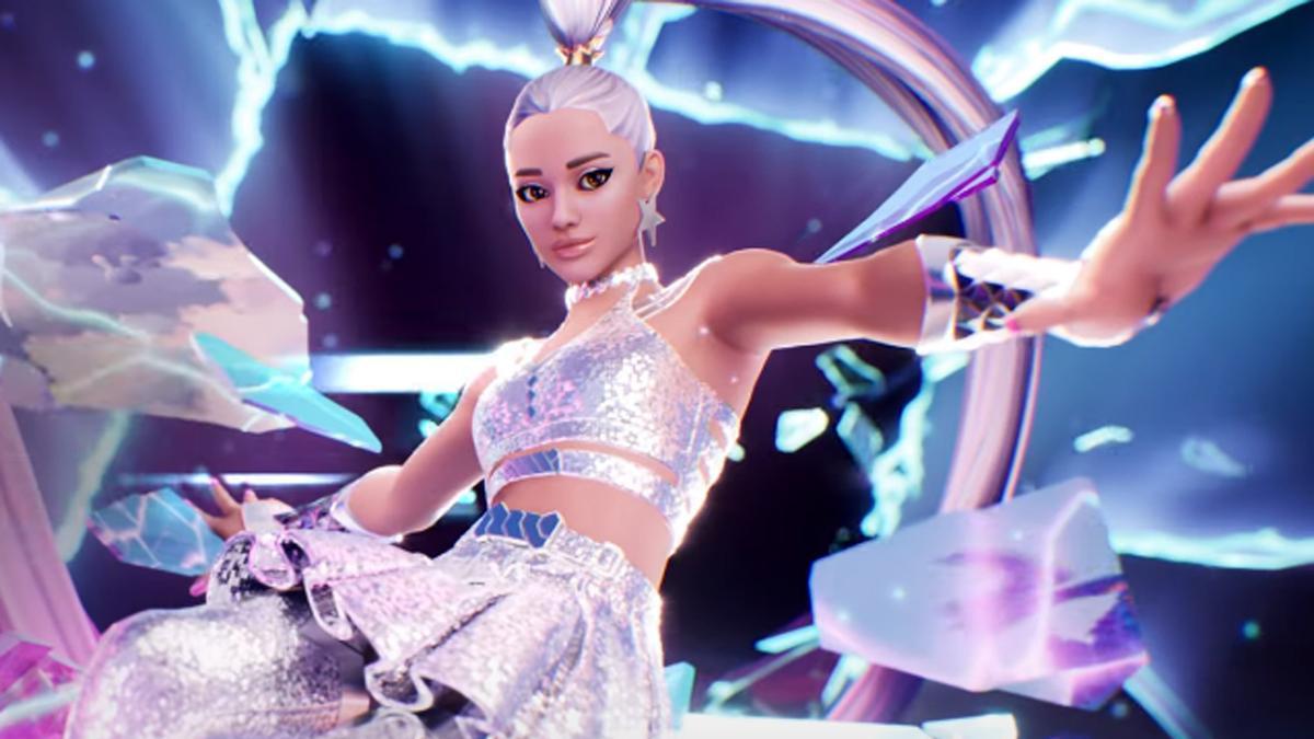 El avatar de Ariana Grande en un concierto virtual