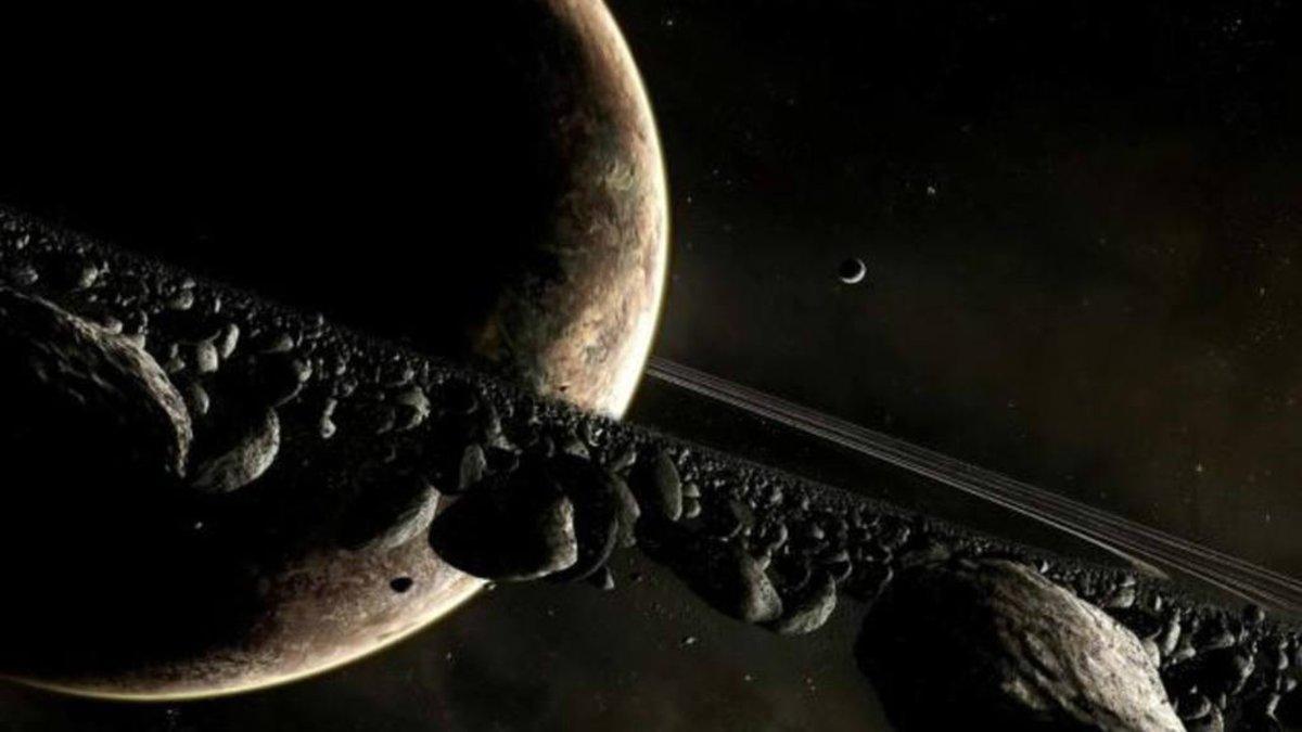 El planeta Saturno, famoso por sus anillos.