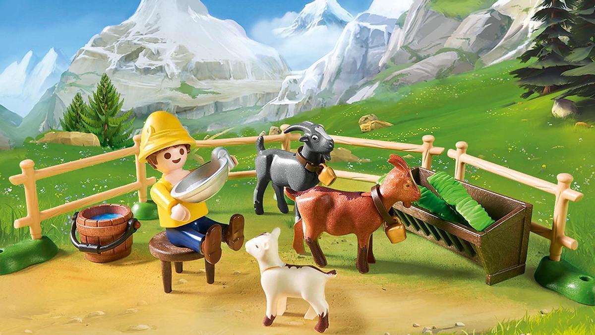 Establo de cabras de Pedro de Playmobil