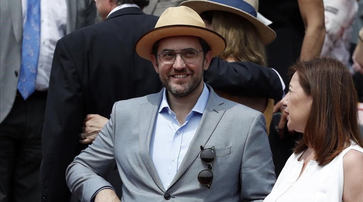 Màxim Huerta durante el Roland Garros el pasado junio del 2018.