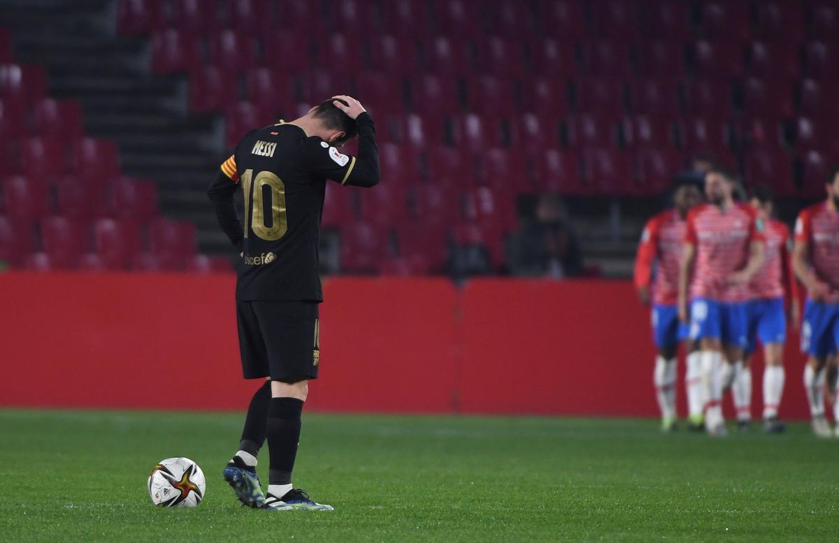 Leo Messi, en el partido de Copa frente al Granada.