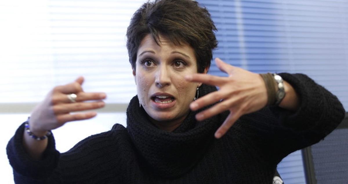 Beatriz Talegón, militante del PSOE conocida por sus polémicas intervenciones.