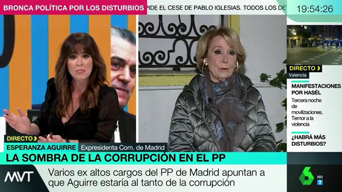 """Mamen Mendizábal pierde la paciencia con Esperanza Aguirre: """"Tenga un poco de respeto"""""""